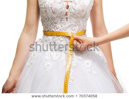 Sposa giovani su misura nastro di misura Foto d'archivio © pressmaster