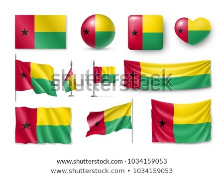Vector set of the national flag of Guinea Bissau in various creative designs Stock photo © butenkow