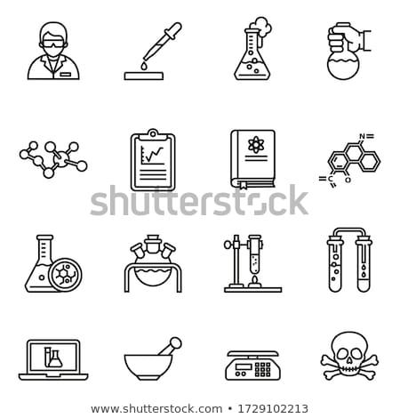 Medical test tube icon set, flask icon. Stock Vector illustration isolated on white background. Stock photo © kyryloff