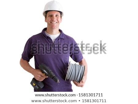 Worker looking at a cut electrical wire Stock photo © photography33