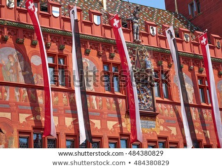 町役場 · スイス · 詳細 · 旅行 · 赤 · 色 - ストックフォト © dacasdo