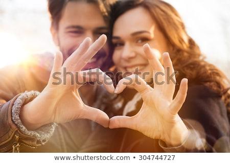 Amore Coppia sorriso party cuore uomini Foto d'archivio © anastasiya_popov