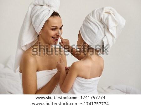 mulher · banho · toalha · branco - foto stock © chesterf