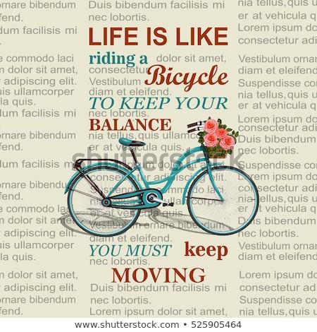 жизни подобно верховая езда велосипед Vintage Сток-фото © maxmitzu