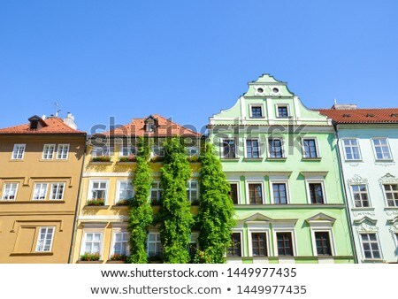 Pormenor surpreendente fachada tradicional edifício Praga Foto stock © CaptureLight