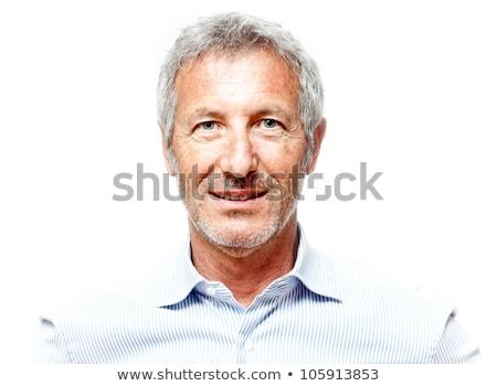портрет элегантный старший человека изолированный Сток-фото © leventegyori