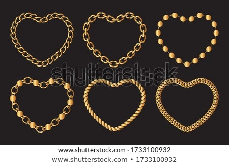 Chain with hearts Stock photo © Oakozhan