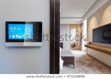 Stock fotó: Otthon · automatizálás · app · interfész · digitális · kompozit · égbolt
