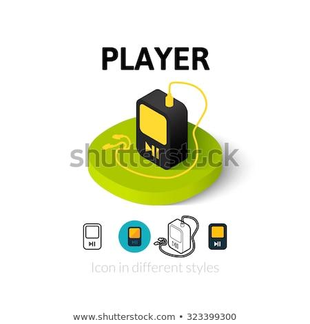 Isométrica portátil music player vermelho isolado branco Foto stock © magraphics