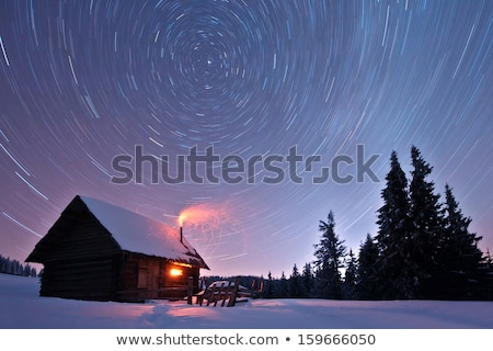 Log home at night Stock photo © colematt