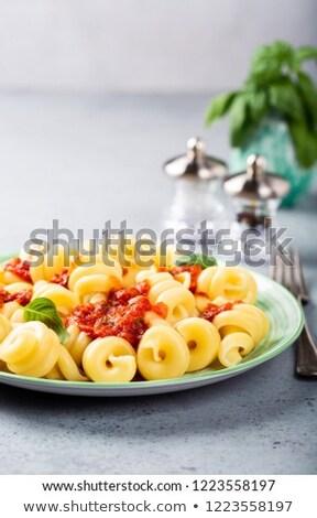 glutensiz · makarna · hizmet · kırık - stok fotoğraf © melnyk
