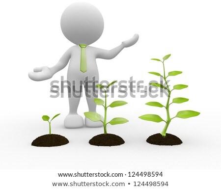 3d Man With A Growing Tree Stock fotó © CoraMax