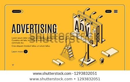 szabadtér · hirdetés · szett · terv · művészet · doboz - stock fotó © tashatuvango