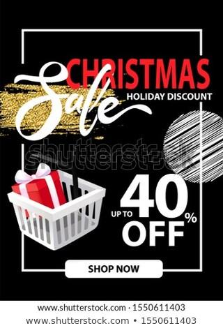 продажи Рождества праздник листовка информации вверх Сток-фото © robuart