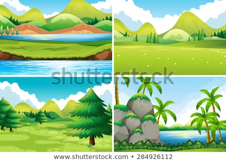 Set of different beautiful nature scenes Stock photo © bluering