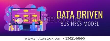 Data driven business model concept banner header. Stock photo © RAStudio