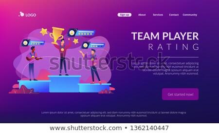Sports rating system concept landing page. Stock photo © RAStudio