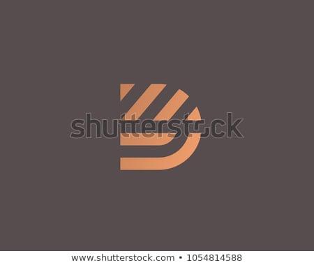 D betű illusztráció gyerekek iskola ír apa Stock fotó © colematt
