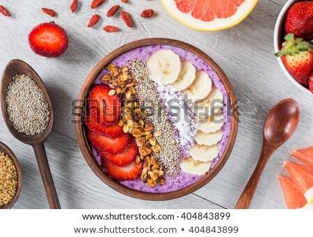 smoothie · haver · banaan · granaatappel · Blauw - stockfoto © illia