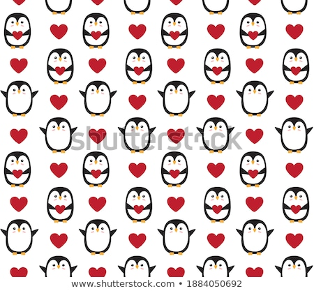 Christmas Scandinavian seamless vector pattern with birds and flowers in red, folk art Nordic fabric Stock photo © RedKoala