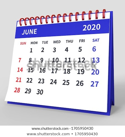 2020 year. Calendar for June. Isolated 3D illustration Stock photo © ISerg