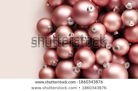 Christmas holiday background, festive baubles and blush pink vin Stock photo © Anneleven