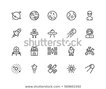 Space icons set Stock photo © ayaxmr