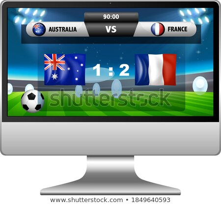 Calcio match punteggio news laptop schermo Foto d'archivio © bluering