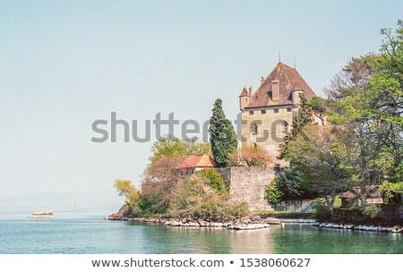 Yvoire castle, France Stock photo © Elenarts