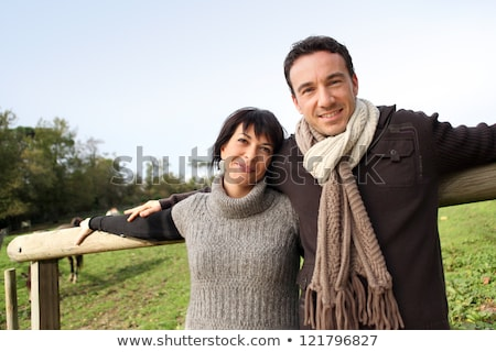 Portrait of a couple strolling in a public park Stock photo © photography33
