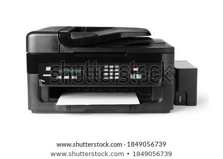 lézer · nyomtató · fehér · számítógép · papír · nyomtatott - stock fotó © shutswis