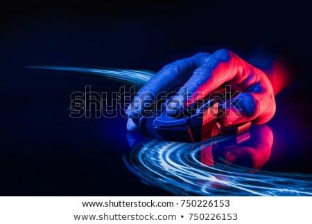 オプティカル マウス 手 ノートブック ホイール ビジネス ストックフォト © iko