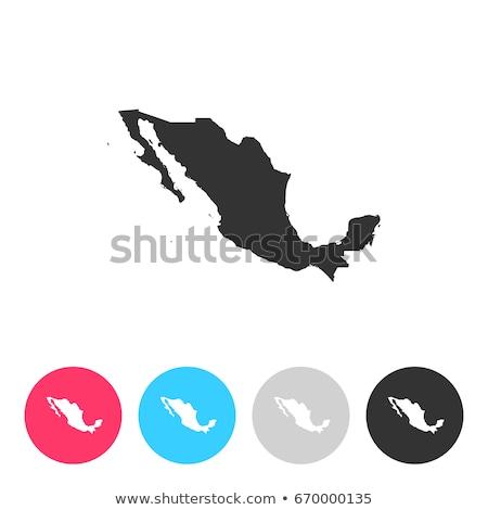 mexique · tampon · résumé · bleu · caoutchouc · mexican - photo stock © myvector