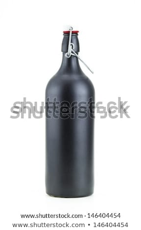 fles · wodka · lege · shot · glas · geïsoleerd - stockfoto © zerbor