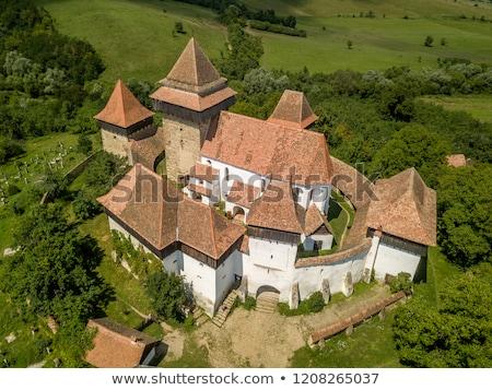 Fortified Church cemetery at Viscri in Transylvania Stock photo © pixachi