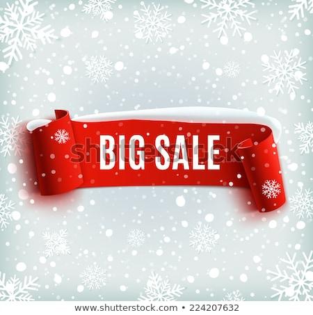 Navidad ofrecer rojo notas adhesivas vector icono Foto stock © rizwanali3d