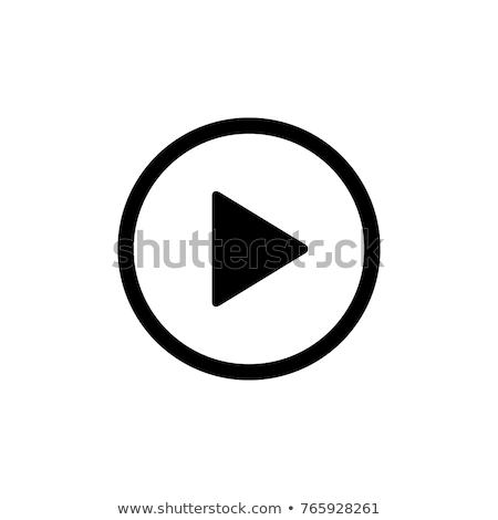 Play icon button Stock photo © kiddaikiddee