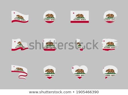 Doze botões bandeira Califórnia fundo Foto stock © clearviewstock