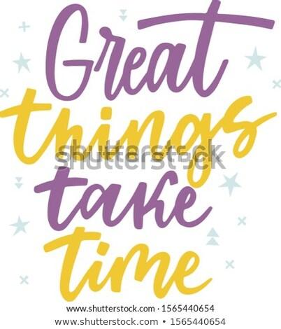 Amarelo cartaz texto coisas Foto stock © SArts