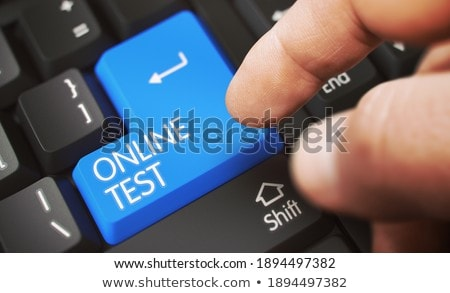 Hand Touching Conversion Marketing Technology Key. 3D. Stock photo © tashatuvango