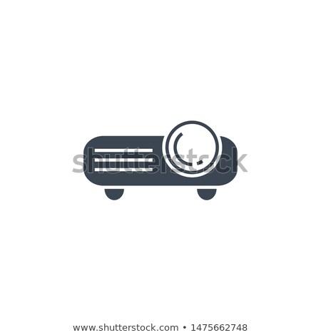 видео проектор вектора икона изолированный белый Сток-фото © smoki