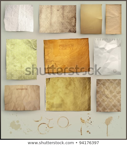 Stock photo: Old paper texture. Set