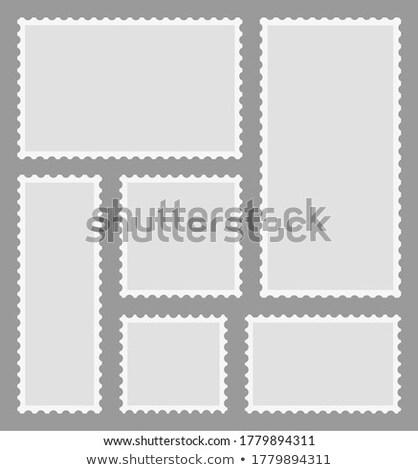 Valósághű öreg posta bélyeg háromszög forma Stock fotó © evgeny89