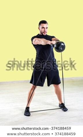 человека подготовки ядро тело мышцы подвеска Сток-фото © Maridav