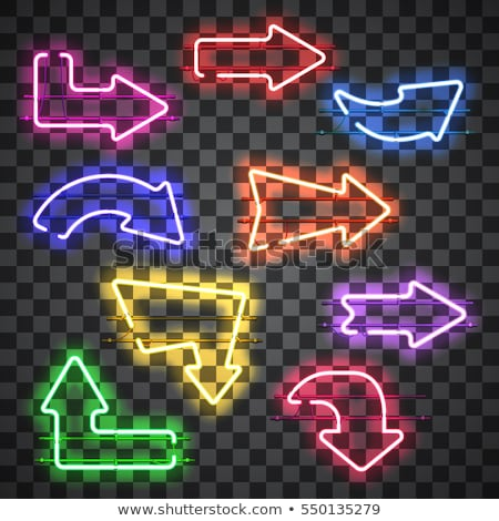 neon style directional arrows in red and blue color Stock photo © SArts