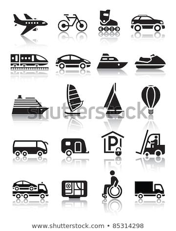 Set simplu transport icoane reflecţie vector Imagine de stoc © Ecelop