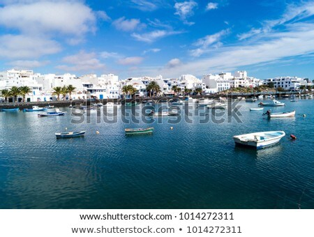 Arrecife Lanzarote boats harbour in Canaries Stock photo © lunamarina