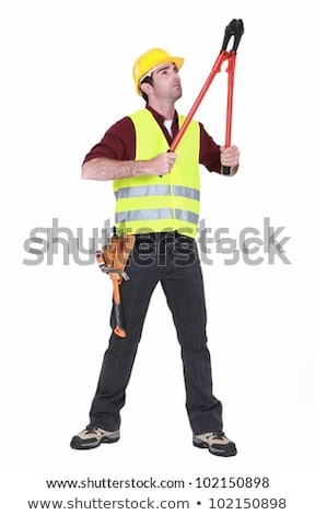 Worker using bolt cutters Stock photo © photography33