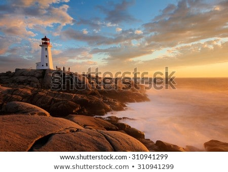 lighthouse on peggys cove stock photo © sumners