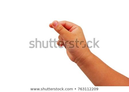 Kéz anya tart homok tengerpart lány Stock fotó © prg0383